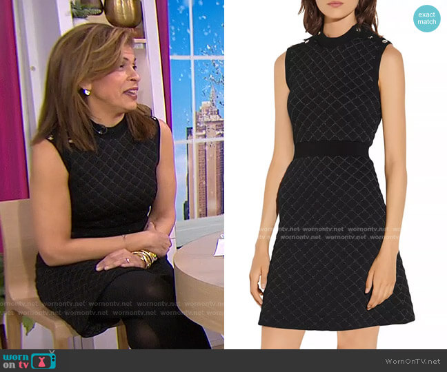 Many Quilted Lurex Knit Dress by Sandro worn by Hoda Kotb  on Today