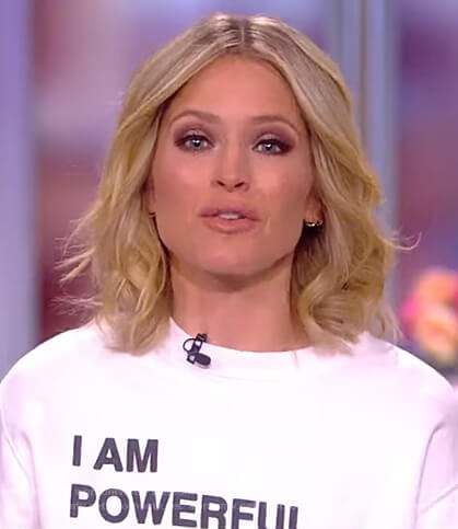 Sara's empowerment sweatshirt on The View