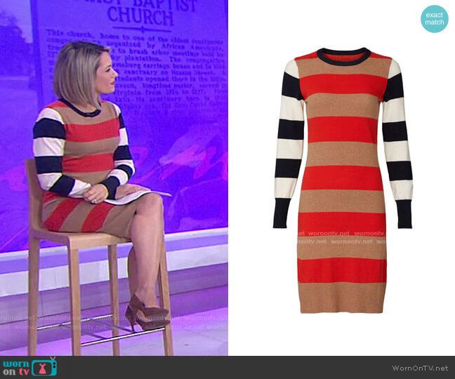 Multi Striped Sweater Dress by Scotch & Soda worn by Dylan Dreyer  on Today
