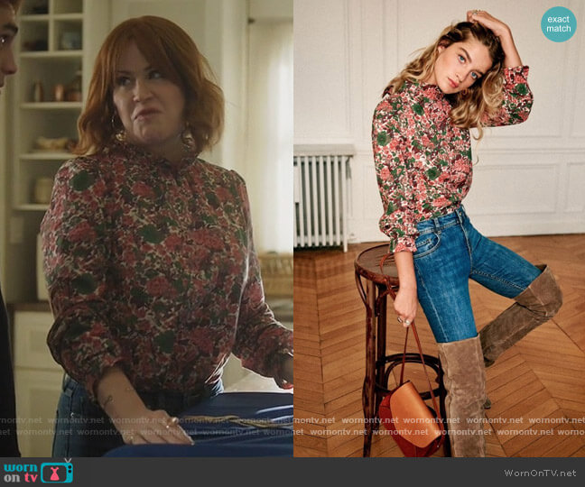 Clothilde Blouse by Sezane worn by Mary Andrews (Molly Ringwald) on Riverdale