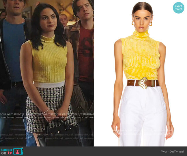 Saya Ribbed Turtleneck Sweater by Sies Marjan worn by Veronica Lodge (Camila Mendes) on Riverdale