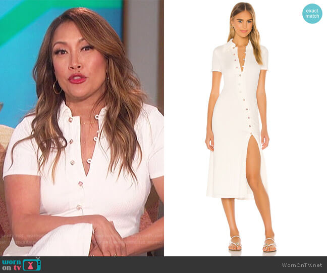 Polly Midi Dress by Song of Style worn by Carrie Inaba  on The Talk
