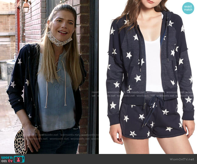 Star Zip-Up Hoodie by Splendid worn by Tami Tamietti (Kate Miner) on Shameless