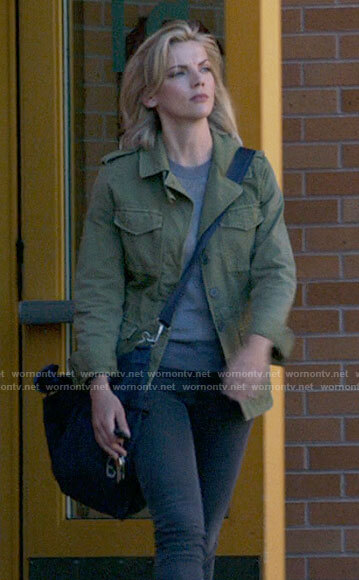 Sylvie's green army jacket on Chicago Fire