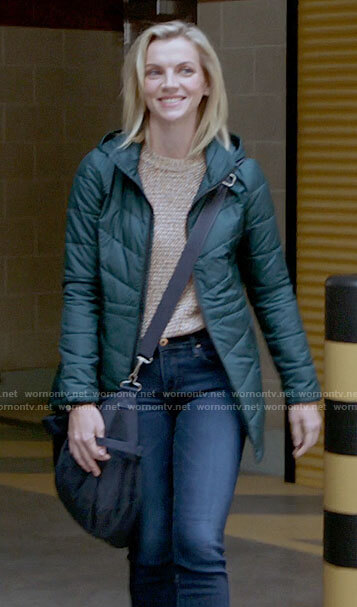 Sylvie's pink cardigan on Chicago Fire