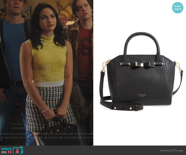 Janne Pebbled Leather Tote by Ted Baker worn by Veronica Lodge (Camila Mendes) on Riverdale