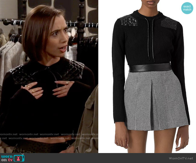 The Kooples Ribbed Sweater worn by Celia (Emma Caymares) on Call Your Mother