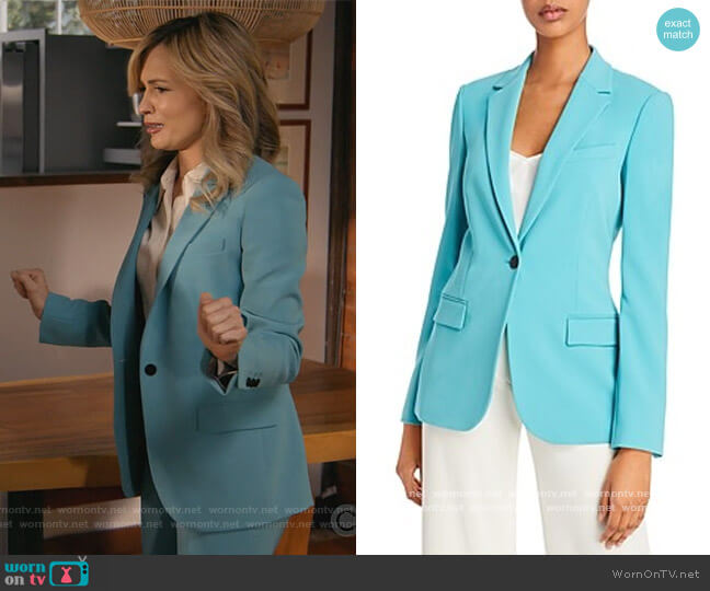 Theory Staple Blazer by Theory worn by Amy Quinn (Lindsey Gort) on All Rise