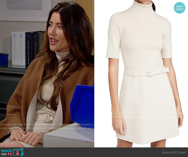 Theory Knit Combo Dress worn by Steffy Forrester (Jacqueline MacInnes Wood) on The Bold & the Beautiful