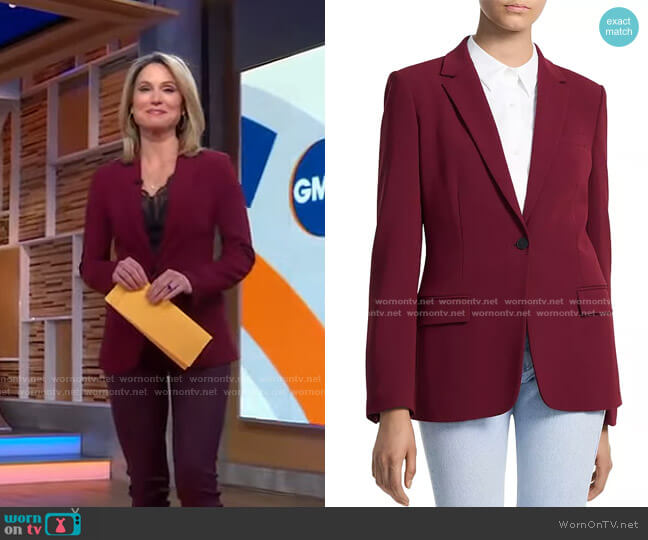 Staple Blazer by Theory worn by Amy Robach  on Good Morning America