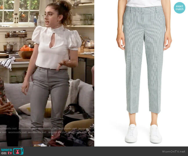 Theory Treeca 4 Wool Blend Crop Trousers worn by Jackie Raines (Rachel Sennott) on Call Your Mother