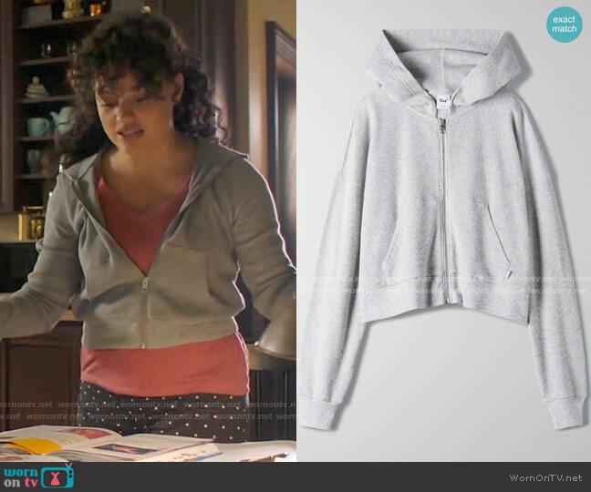 Aritzia Tna Manresa Thermal Zip Up worn by Maggie Vera (Sarah Jeffery) on Charmed