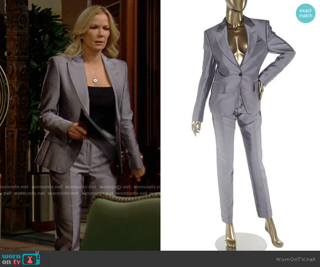 Tom Ford Silk Lavender Suit worn by Brooke Logan (Katherine Kelly Lang) on The Bold & the Beautiful