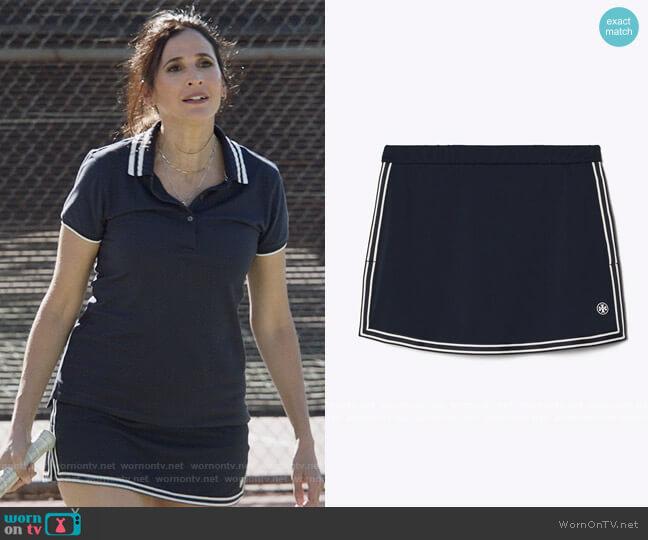Side Slit Tennis Skirt by Tory Sport worn by Delia (Michaela Watkins) on The Unicorn
