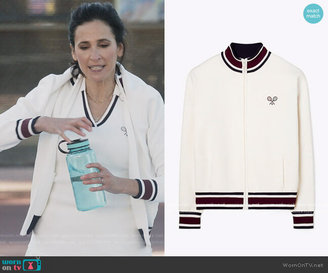 Racquet Tech Knit Jacket by Tory Sport worn by Delia (Michaela Watkins) on The Unicorn