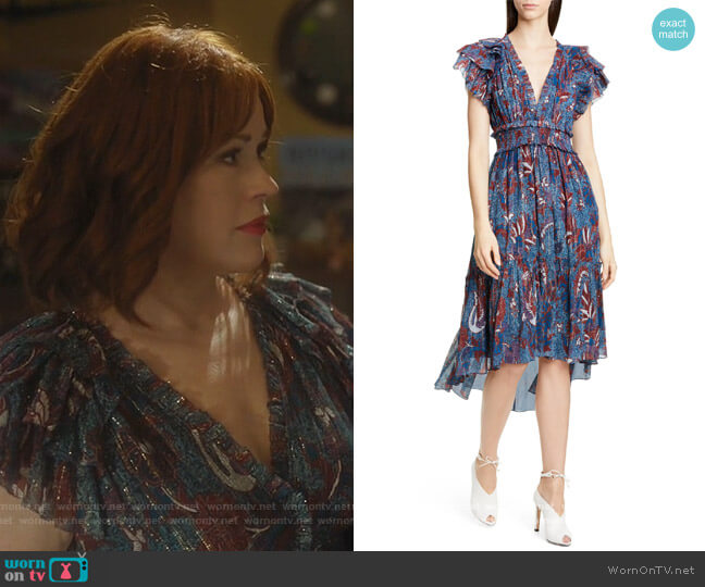 Cicely Silk Blend High/Low Dress by Ulla Johnson worn by Mary Andrews (Molly Ringwald) on Riverdale