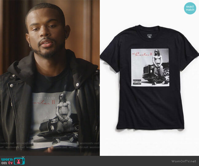 Lil Wayne The Carter Tee by Urban Outfitters worn by Aaron Jackson (Trevor Jackson) on Grown-ish