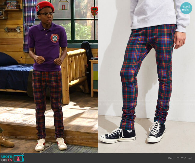Tartan Skinny Pant by Urban Outfitters worn by Noah Lambert (Israel Johnson) on Bunkd