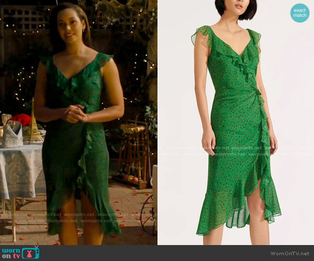 Veronica Beard Amal Dress worn by Macy Vaughn (Madeleine Mantock) on Charmed