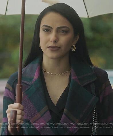 Veronica's green plaid coat on Riverdale