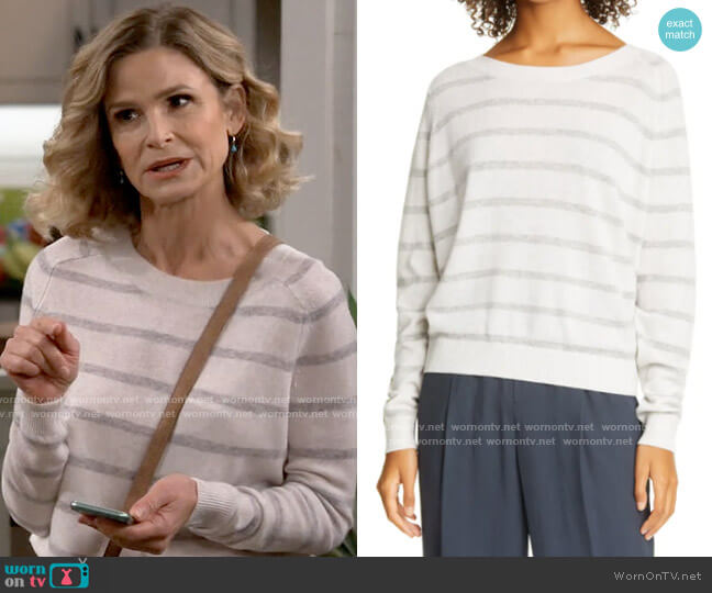 Vince Stripe Wool & Cashmere Sweater worn by Jean Raines (Kyra Sedgwick) on Call Your Mother