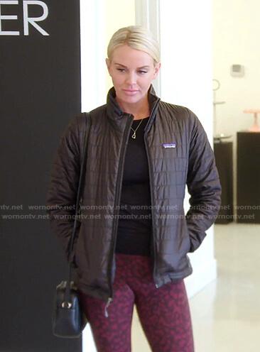 Whitney's black fringe sweatshirt on The Real Housewives of Salt Lake City