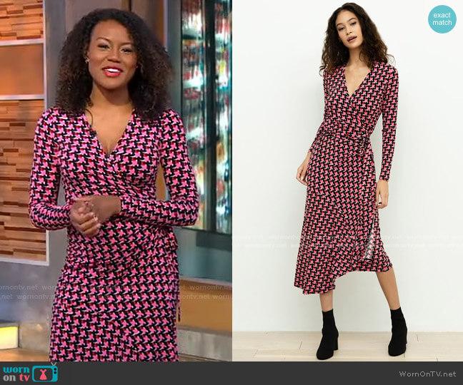 Sabine Wrap Dress by Yumi Kim worn by Janai Norman  on Good Morning America