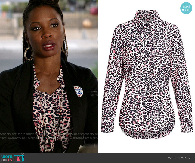 Tali Print Blouse by Zadig and Voltaire worn by Veronica Fisher (Shanola Hampton) on Shameless