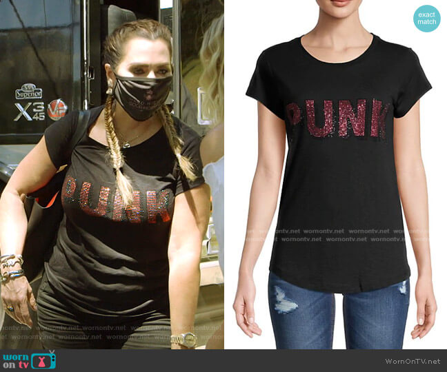 3D Punk Embellished T-Shirt by Zadig & Voltaire worn by D'Andra Simmons  on The Real Housewives of Dallas