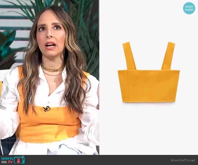 Cropped Top by Zara worn by Lilliana Vazquez  on E! News