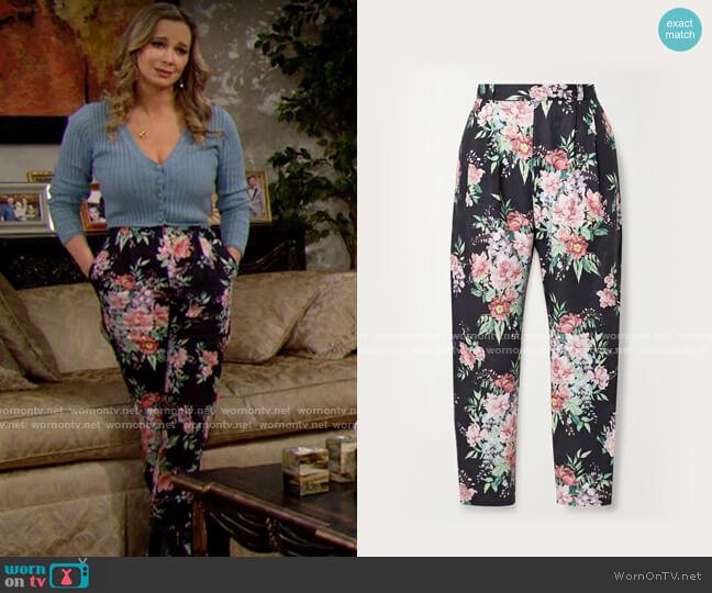 Zimmermann Bellitude Tuck Pants worn by Donna Logan (Jennifer Gareis) on The Bold & the Beautiful