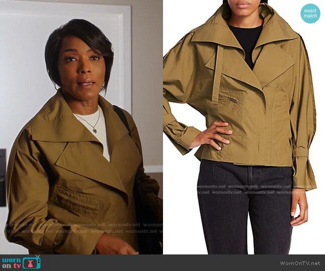 Detachable Collar Safari Jacket by 3.1 Phillip Lim worn by Athena Grant (Angela Bassett) on 9-1-1