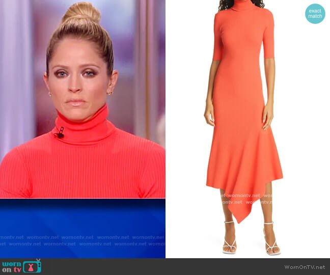 Erynna Turtleneck Midi Dress by A.L.C. worn by Sara Haines  on The View