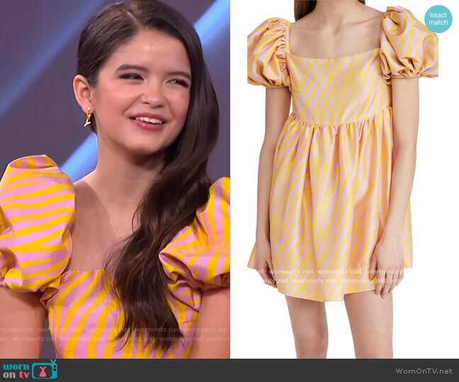 Kam Zebra Dress by Azeeza worn by Yaya Gosselin on The Kelly Clarkson Show