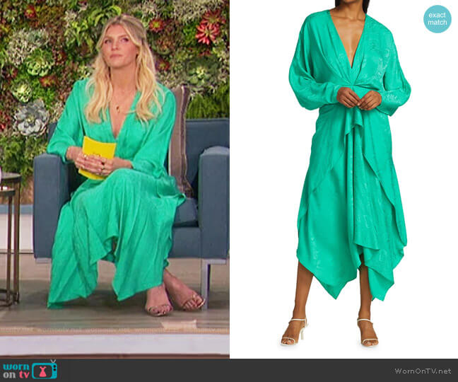 Stanley Satin Midi Dress by Acler worn by Amanda Kloots  on The Talk