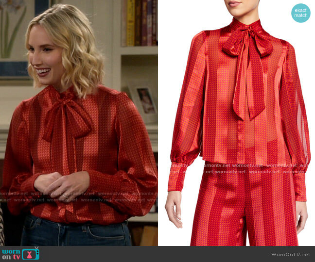 Alexis Destra Blouse worn by Mandy Baxter (Molly McCook) on Last Man Standing