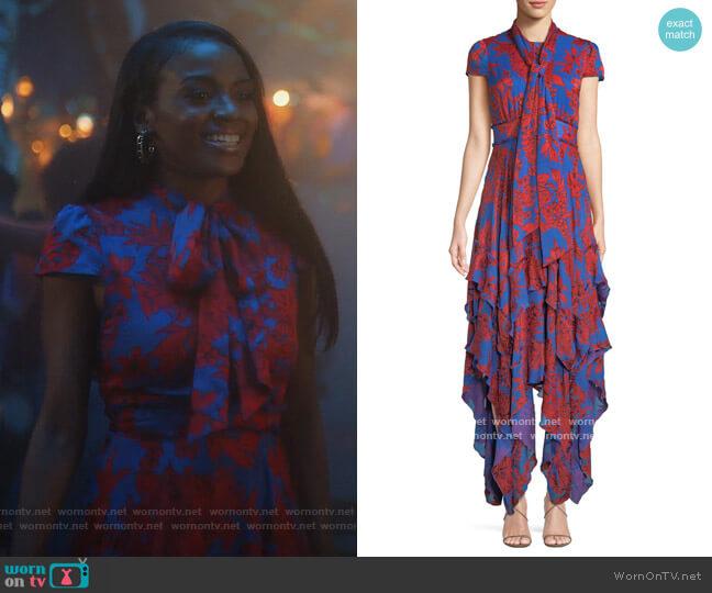 Ilia Dress by Alice + Olivia worn by Rochelle (Raigan Harris) on Grown-ish