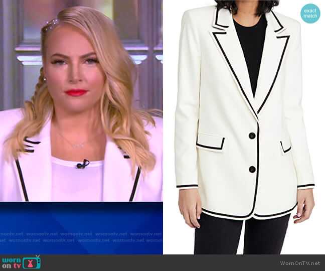 Elna Long Blazer by Alice + Olivia worn by Meghan McCain  on The View