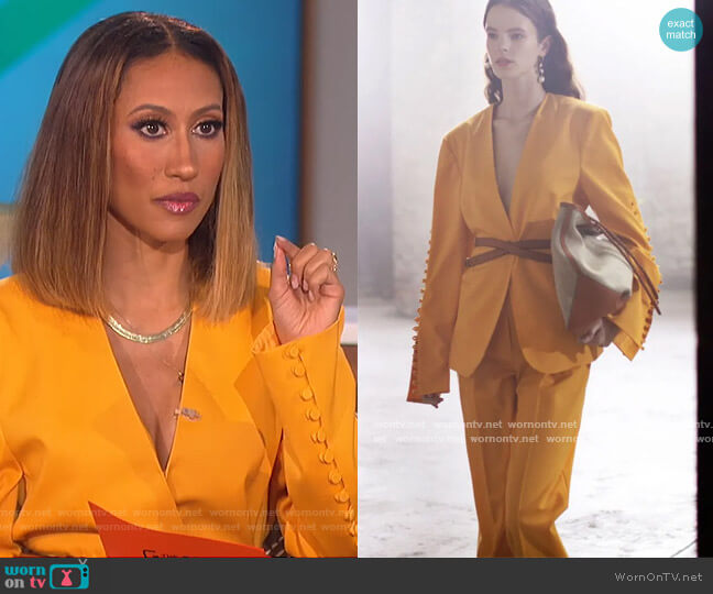 2021 Spring Collection by Altuzarra worn by Elaine Welteroth  on The Talk