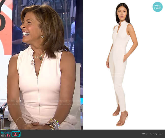 Antoinette Sleeveless Jumpsuit by Black Halo worn by Hoda Kotb  on Today