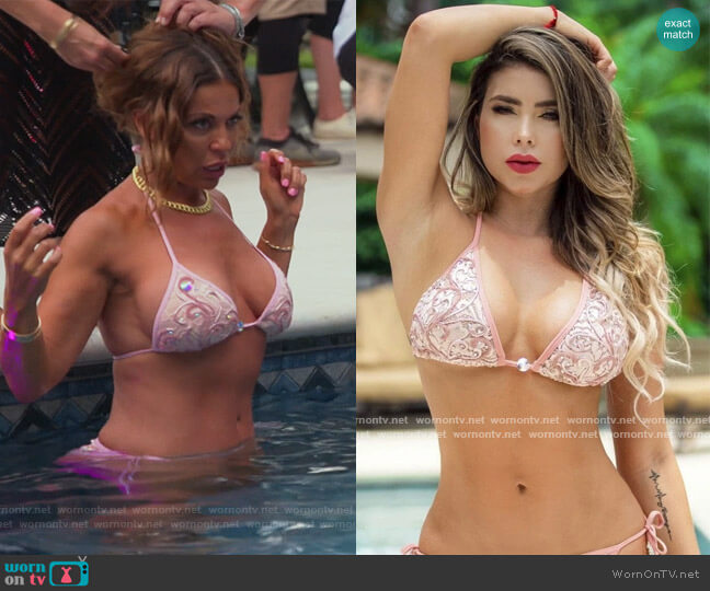 Baccio Couture Adriana Lace Bikini by Adriana Bikinin worn by Dolores Catania  on The Real Housewives of New Jersey