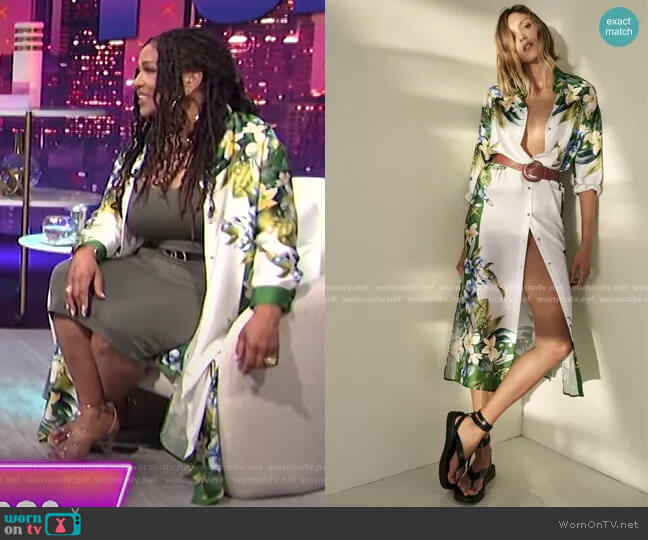 Belted Shirt Dress by Zara worn by Kym Whitley  on E! News