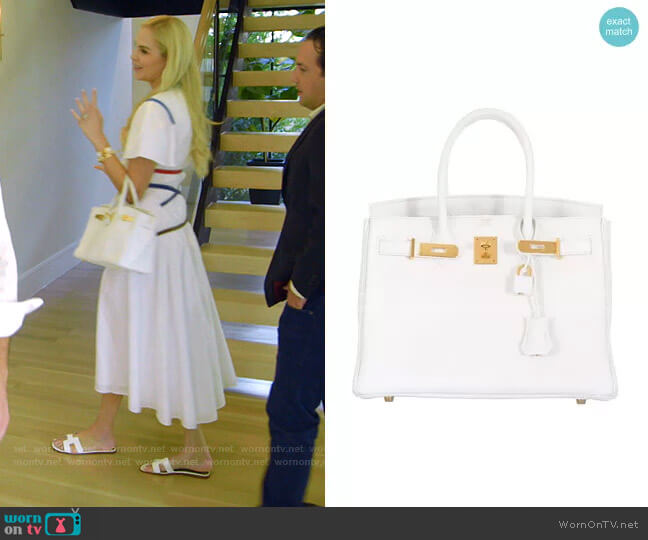 Birkin Bag by Hermes worn by Kameron Westcott  on The Real Housewives of Dallas