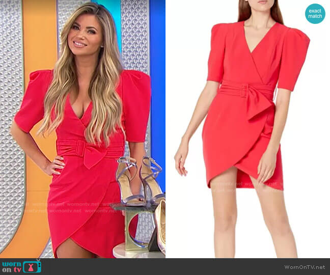 Black Halo Maricopa Dress worn by Amber Lancaster  on The Price is Right