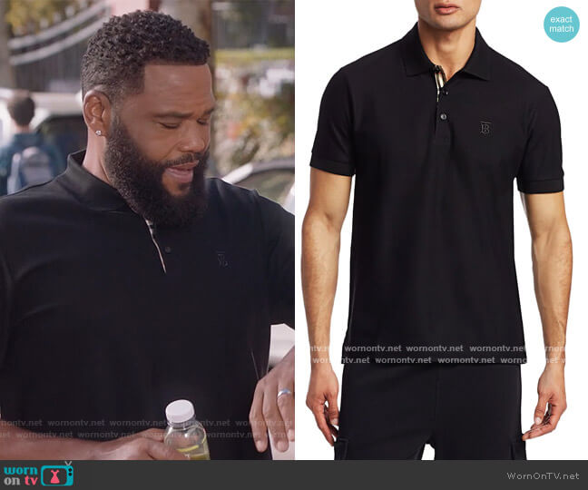 Eddie Core Polo by Burberry worn by Andre Johnson (Anthony Anderson) on Blackish
