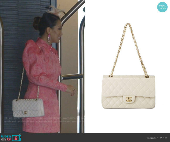 Quilted Leather Shoulder Bag by Chanel worn by Tiffany Moon  on The Real Housewives of Dallas