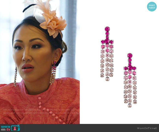 Asher Drop Earring by Dannijo worn by Tiffany Moon  on The Real Housewives of Dallas