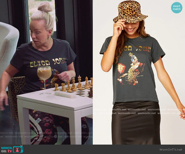 Elton John Bennie and the Jets Vintage by Daydreamer worn by Margaret Josephs  on The Real Housewives of New Jersey