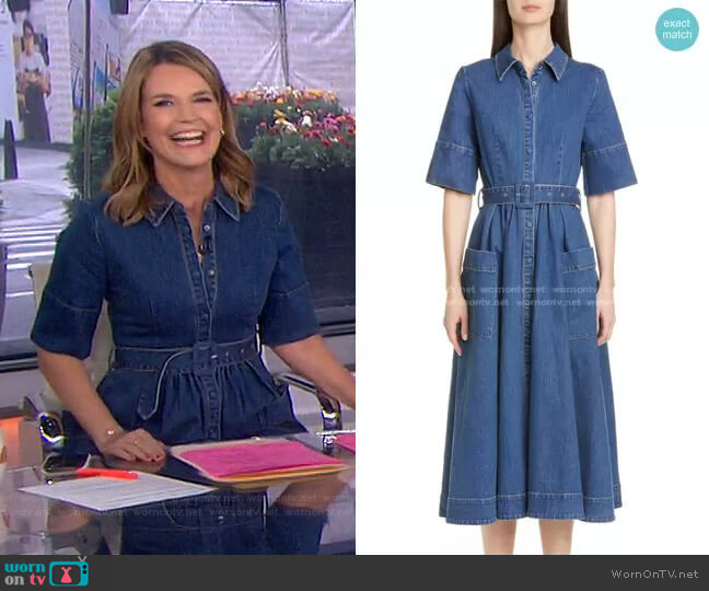 Denim Midi Shirtdress by Co worn by Savannah Guthrie  on Today