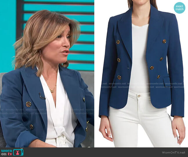 Eliza Double Breasted Blazer by Derek Lam 10 Crosby worn by Kit Hoover  on Access Hollywood